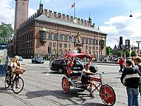 denmark people riding bikes in the square