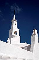 The church in the white quarter in Binibeca, Menorca