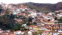 ouro preto historical place with many old facades of houses