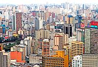 sao paulo sp aerial view of the buildings
