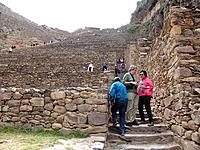 peru people visiting the ruins