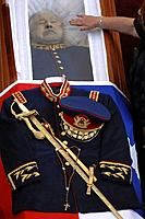 Santiago Chile (11th December 2006). Augusto Pinochet's wake at the Escuela Militar de Santiago