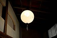 Low angle view of a designed lamp