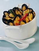 spicy hot mussels