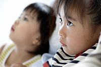 Profile of girl and boy