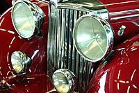 red car model old kind front part