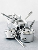 Cookware set of saucepans