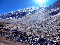 mendoza argentina solar ray into the natural mountain