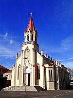 porto alegre rs old antique catholic church facade