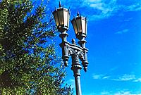one antique light pole architecture