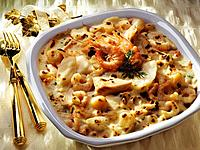 Fish and shrimp gratin