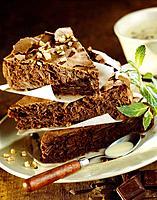 Bitter chocolate and almond cake
