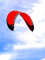 a marine naval sport kitesurf