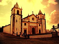 sunset sunrise at pernambuco church facade