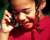 a black girl talking on cellphone