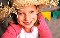 a girl with straw hat at june parties celebrations
