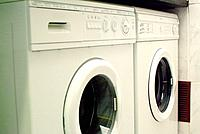a washing and a dryer machine