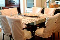 a diner room decorative table