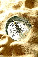 a compass direction object in the sands