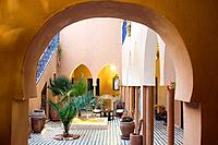 Morocco, Tamdaght, Kasbah Ellouze Hotel, a few miles away from the fortified village of Ait Benhadou