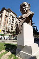 Monumento to Goya by Ignacio Rodriguez Ruiz at the intersection of Avda. Goya and Gran Via, Zaragoza. Aragon, Spain