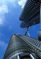 Malaysia, Kuala Lumpur, Petronas Towers, Southeast Asia, skyline, building, office building, city, town, modern, archi