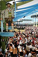 Munich, Oktoberfest, Germany, Europe, Munchen, Bavaria, Tradition, Traditional, Beer tent, inside, Indoor, Amusement