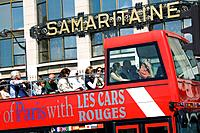 Sightseeing tour bus. Paris. France.