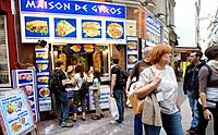 Maison de Gyros Greek restaurant. Latin Quarter. Paris. France.