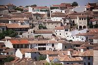 Cityscape with houses with tiled roofs, Chinchon,Spain