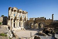 The Library of Celsus in Ephesus City, Turkey, Asia