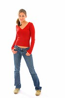 Young women in jeans
