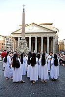 Pantheon in Piazza della Rotonda, Rome. Lazio, Italy
