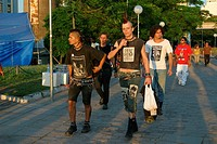 Punks, World Social Forum, Porto Alegre, Rio Grande do Sul, Brazil