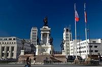 Arturo Prat Monument, Plaza Cotomayor, Valparaiso, Chile