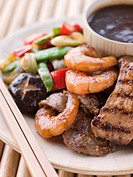 Teppanyaki_ Meat and Fish Barbeque Grill