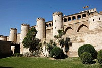 Palacio de la Aljaferia, Arab palace built 11th century, Zaragoza. Aragon, Spain