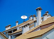satellite dish on roof - spain