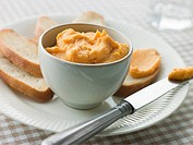 Bowl of Rouille with Croutes