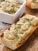 Confit of Onions on Toasted Baguette