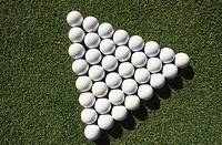 Golf Balls in a pattern