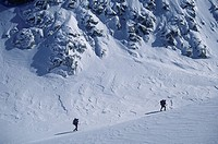 ski touring, Coast Mountains, BC