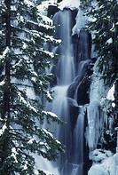 Derek Falls in Winter, Manning Park BC