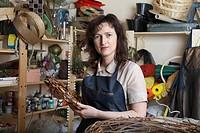 Florist in her shop portrait