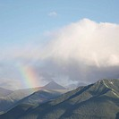 Rainbow over Centennial Ridge and Kananaskis Country CANADA Alberta