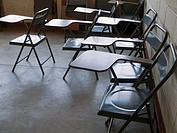 Chairs in school in San Juan Cotzal, Guatemala