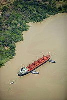 Bulk food ship, Culebra (Gaillard) Cut, Panama Canal, Republic of Panama