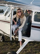 Couple on private aeroplane