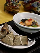 cook, leaf, wrapped, sticky, lotus, lotus leaf rice