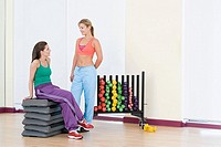 Women in exercise studio